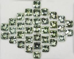 104.01Ct  Natural Green Prasiolite / Amethyst Cushion Parce3l Brazil