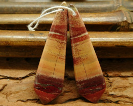 Natural stone red river jasper earring beads (G0264)
