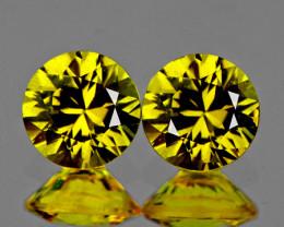 3.00 mm Round 2 pcs Yellow Sapphire [VVS]