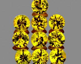 2.70 mm Round 10 pcs Yellow Sapphire [VVS]