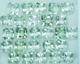 28.25Ct Natural Green Prasiolite / Amethyst Cushion Parcel Brazil