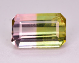 Superb Color 1.60 Ct Natural Bi Color Tourmaline. RA1