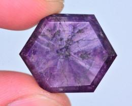 Rarest 21.25 Ct Corundum Sapphire Trapiche From Kashmir Valley. ARA