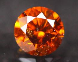 0.33Ct Vivid Reddish Orange Natural Fancy Diamond E2507