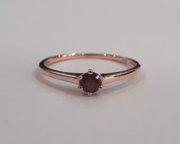 Rhodolite 925 Sterling silver Rose gold plated ring #9502