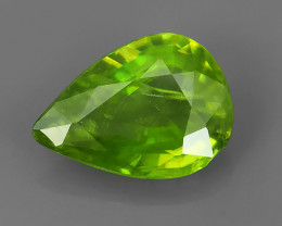 2.10 CTS EXTRME LUSTER RARE NATURAL TOP GREEN-COLOR SPHENE GEM!