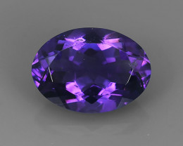 5.40 CTS NOBLE OVAL CUT PURPLE AMETHYST~ OVAL URUGUAY WONDERFUL GEM!