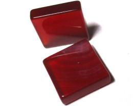 12.63cts Carnelian Matching Square Discs