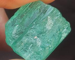 52.25 carat Afghanistan panjshir emerald rough with hue color AD03