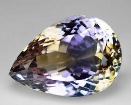 24.88 Ct Natural Ametrine Top Cutting Top Luster Gemstone. AM 11