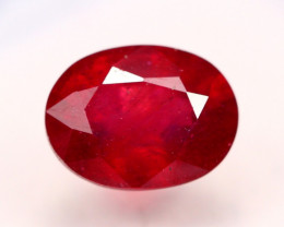 2.02Ct Blood Red Color Ruby Oval Cut Lot LZB557