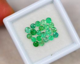 1.79ct Zambia Green Emerald Round Cut Lot V4194