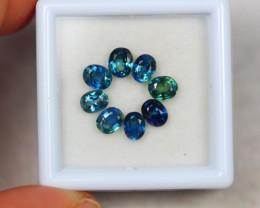 3.07ct Greenish Blue Sapphire Oval Cut Lot V4197