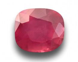 Natural Unheated Ruby Madagascar Cushion Cut Loose Gemstone