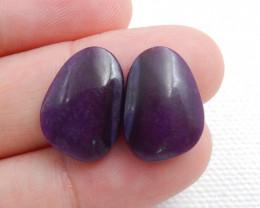 Sugilite Cabochon Pairs ,Handmade Gemstone ,Sugilite Bead ,Lucky Stone C615