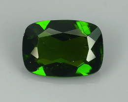 1.15 CTS ATTRACTIVE ULTRA RARE NATURAL CHROME DIOPSIDE OCTAGON RUSSIA!!