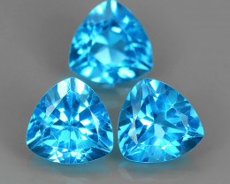4.50 CTS INVESTMENT GEM~VIP BLUE TOPAZ~TRILLION~CUT EXCLUSIVE !!