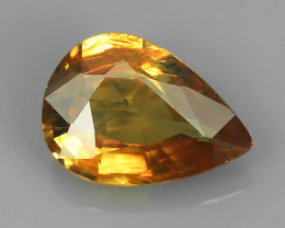 3.65Ct Exclusive Lustrous Peach-Yellow Pear Rare Zircon Beauiful Color Gem!