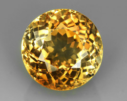 22.20 Ct Ravishing Color Full Sparkling Round!South American Topaz!$560