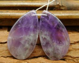 Natural gemstone amethyst earring beads for women  (G0269)