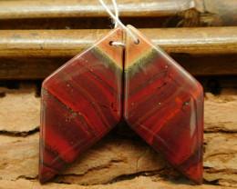 Natural gemstone red river jasper earring pairs (G0280)
