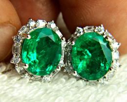 36.89 Ct. Doublet Emerald Earrings - Beautiful.