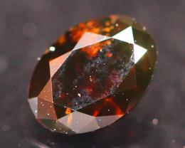 0.41Ct Fancy Deep Cognac Natural Diamond B2509