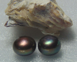 collective PIECES  black fresh water pearl 12.95 cts