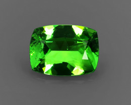 .86CT ELECTRIC APPLE GREEN Precision Cushion Cut TSAVORITE GARNET