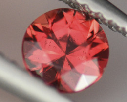 .45CT INTENSE ORANGE Color Round Brilliant Cut Sapphire (BE)