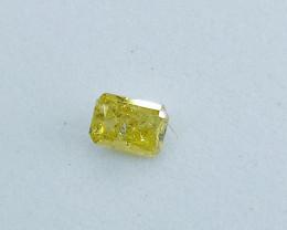 0.17ct  Fancy Vivid greenish Yellow Diamond , 100% Natural Untreated
