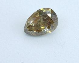 1.02ct  Fancy grayish yellowish Brown Diamond , 100% Natural Untreated