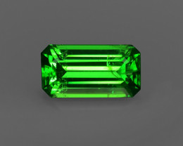 1.28CT ÜBER Hot ELECTRIC Color Emerald Cut TSAVORITE GARNET