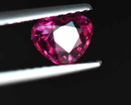 1.01CT ELECTRIC PURE SCARLET RED Heart Shape UNHEATED RUBY