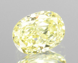 ~UNTREATED~ 0.18 Cts Natural Yellow Diamond Oval Cut Africa