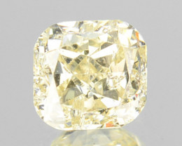 ~UNTREATED~ 0.25 Cts Natural Yellow Diamond Cushion Cut Africa