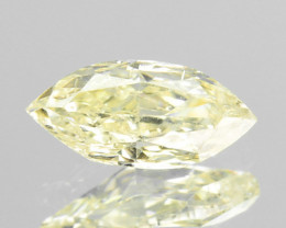 ~UNTREATED~ 0.24 Cts Natural Yellow Diamond Marquise Cut Africa