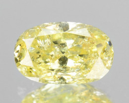 ~UNTREATED~ 0.31 Cts Natural Yellow Diamond Oval Cut Africa