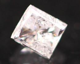 0.24Ct Fancy Pink Princess Cut Natural Diamond B2605
