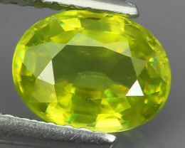 1.40 CTS UNHEATED NATURAL ULTRA RARE CUTTING MULTI TOP GREEN COLOR SPHENE