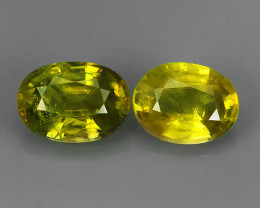 3.65  CTS~EXCELLENT NATURAL GREENISH-YELLOW SPHENE OVAL