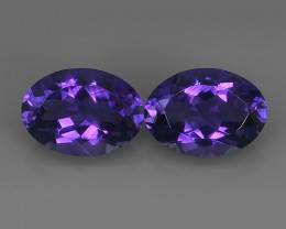 11.05 CTS MAGNIFICENT NATURAL PURPLE-VIOLET AMETHYST NICE OVAL~CUT