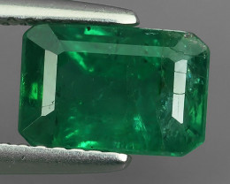 2.55 CTS NATURAL EMERALD ZAMBIA TOP COLOR OCTOGON