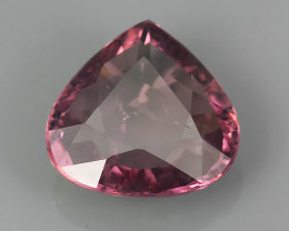 1.90 CTS PEAR CUT 100%NATURAL PINK~MALAYA GARNET  GEM!!