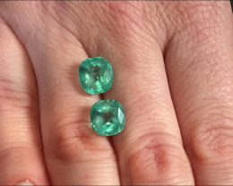 6,59ct Pair of Colombian Emeralds Ref 19+20/76