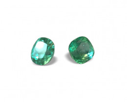 7,37ct  Top Quality Pair of Natural Colombian Emeralds for your new Earring