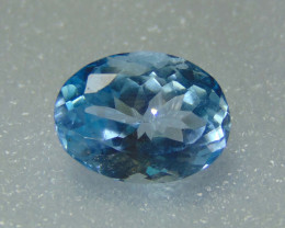 9.20cts MARVELOUS  NATURAL ELONGATED blue TOPAZ
