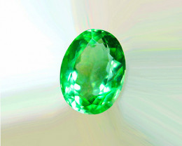 1.2o ct Zambian Emerald Certified. Beautiful Radiant Stone!