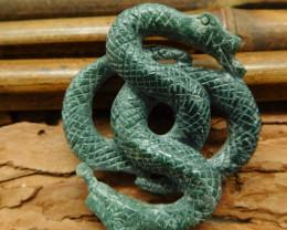 Snake pendant natural gemstone carving snake decoration (G0302)