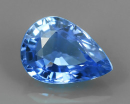 AWESOME BLUE SAPPHIRE FACET GENUINE  PEAR MADAGASCA